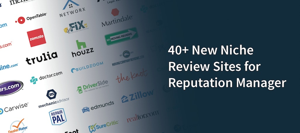 40+ New Niche Review Sites for Reputation Manager