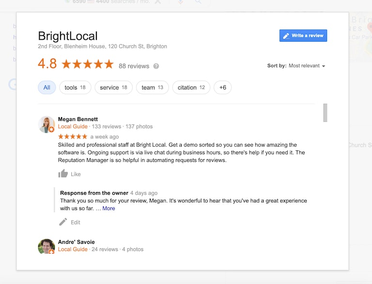 BrightLocal Reviews