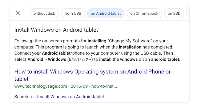 Carousel featured snippets clicked