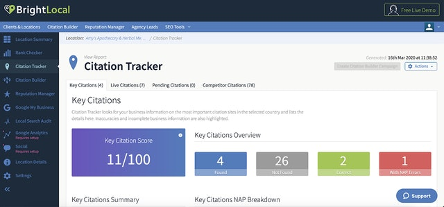 Citation Tracker screenshot