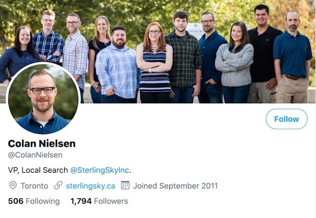 Colan Nielsen on Twitter