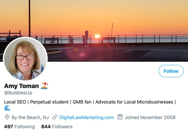 17 Local SEO Experts You Need to Follow on Twitter - 6