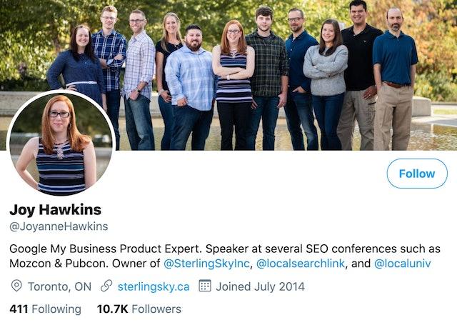 Joy Hawkins on Twitter