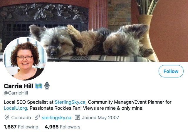 Carrie Hill on Twitter