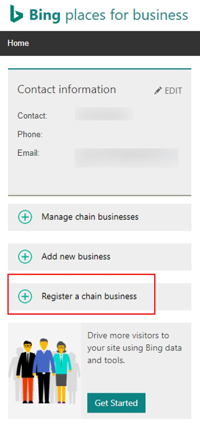 Register a chain business