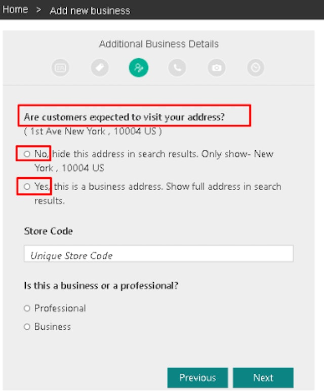 Additional Business Details
