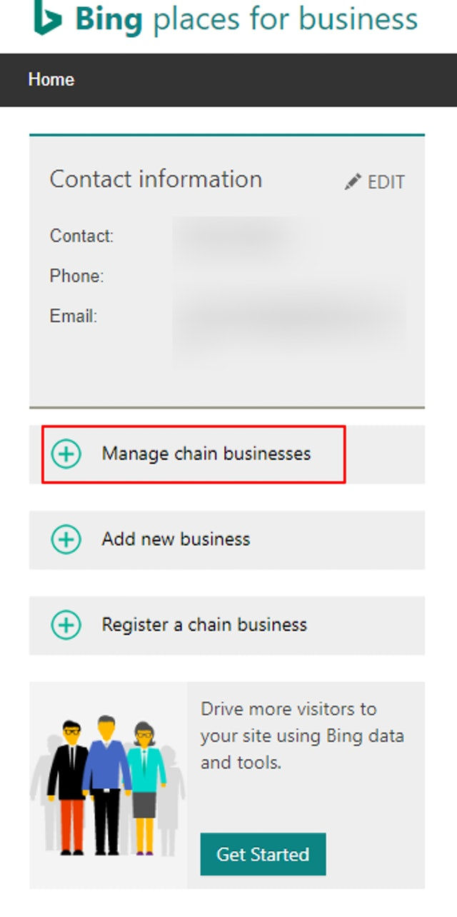 Manage chain business
