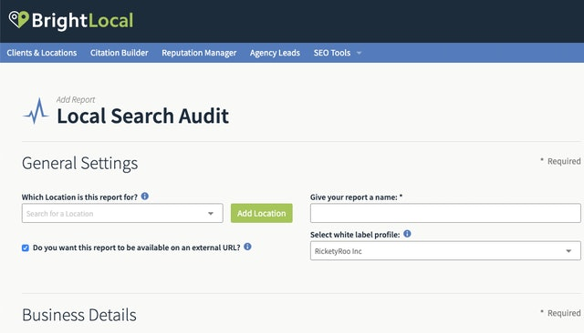 Local Search Audit tool