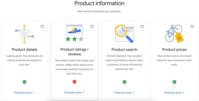 Product section GMS