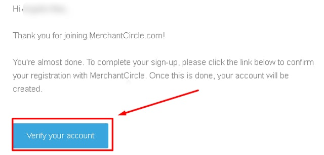 MerchantCircle Verify Your Account