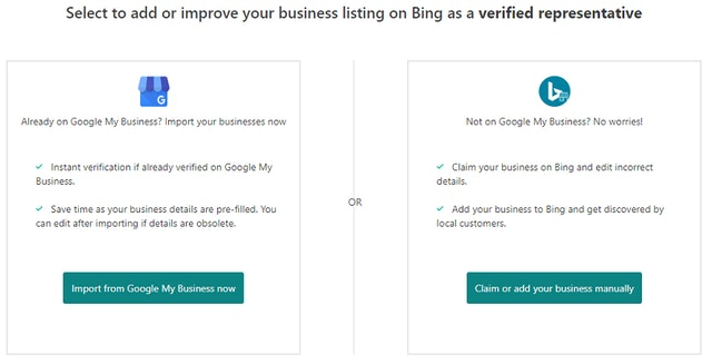 Sync GMB to Bing Places