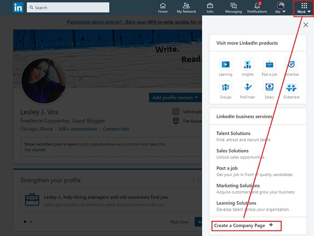 Setting up LinkedIn for Business