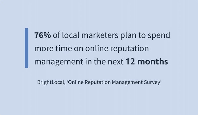 BrightLocal Online Reputation Management Survey
