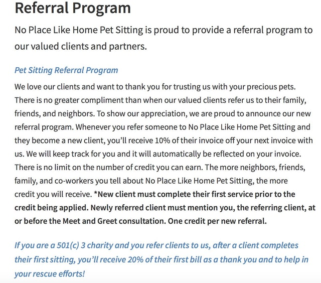 Referral marketing example 2
