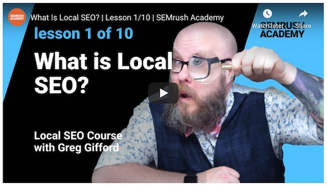 Greg Gifford what is local SEO?