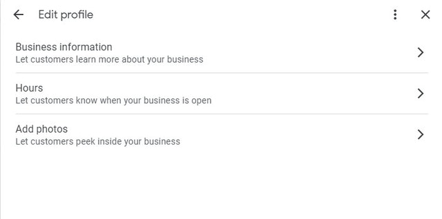 Inline editing Google My Business