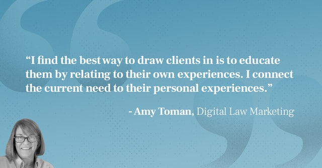Amy Toman unengaged clients quote