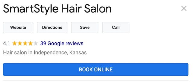 Google My Business Book Online Button