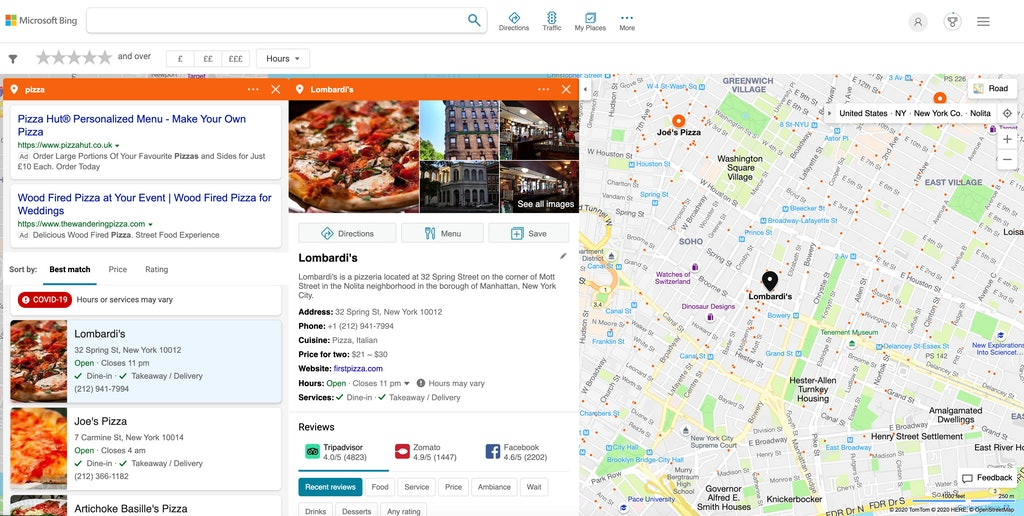 Bing Places Local Search