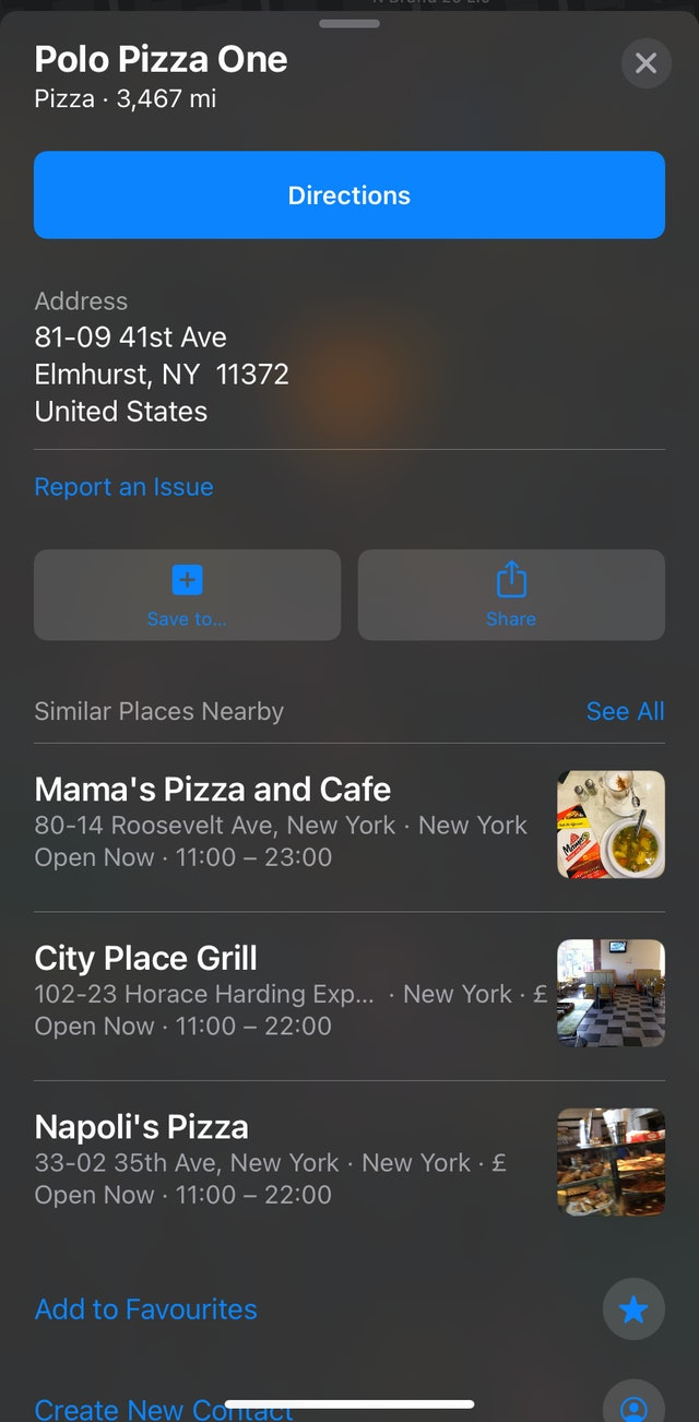 Apple Maps Unfilled Listing