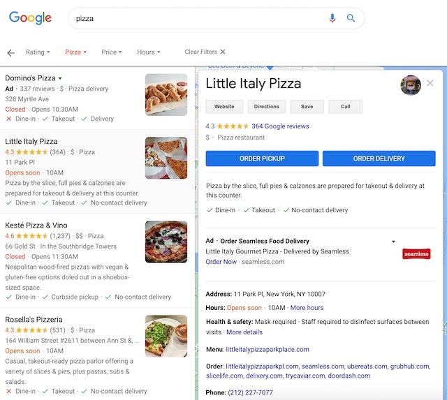 Google Maps Business Listing