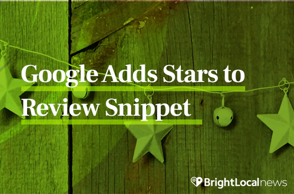 Star Rating Now Showing in Google Review Summary