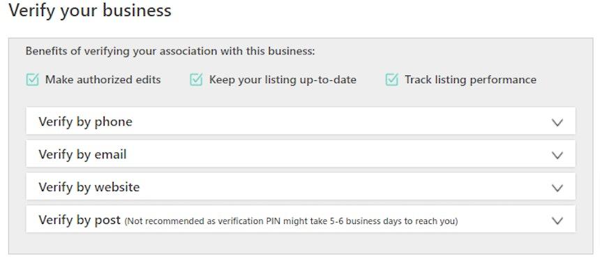 bing verification