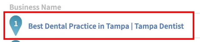 Dental Practice spam name example