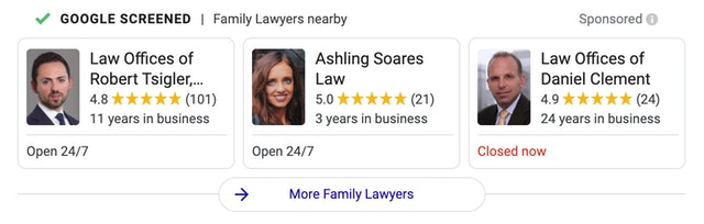 Family Lawyer Local Services Ads