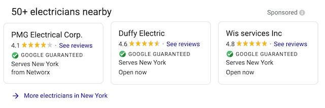 Google Guaranteed Local Services Ads