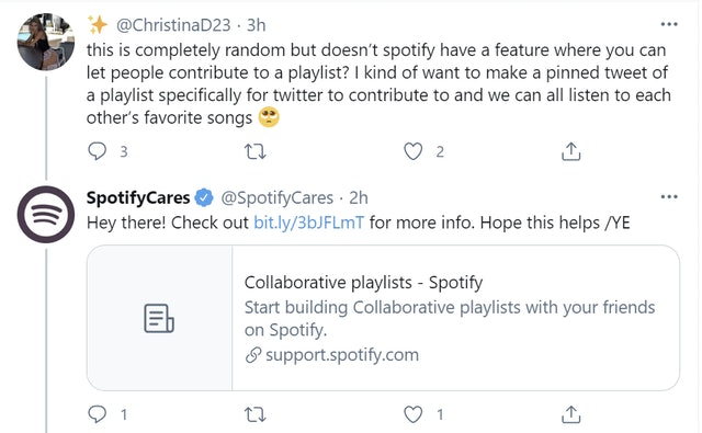 Spotify example