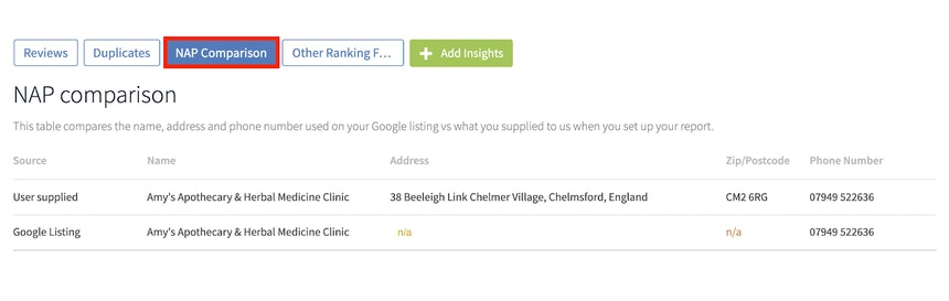 Google My Business Audit for service-area businesses