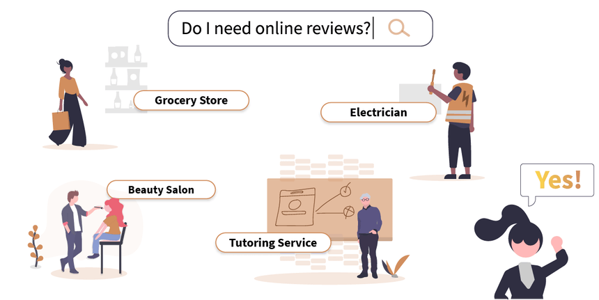 Who is online review management for?