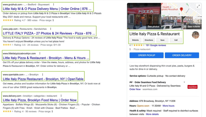 Citations in SERPs