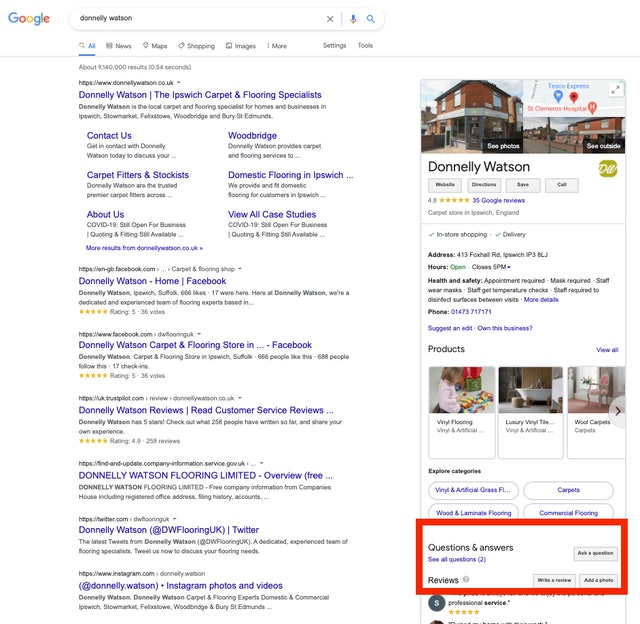 Google My Business Q&A: How to Get the Most Out of Your Customers' Questions - 1