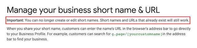 Short Names Come to Google My Business: Have You Reserved Yours? - 0