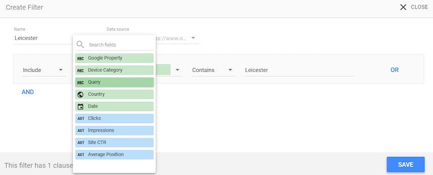 Captura de pantalla de Google Data Studio 31